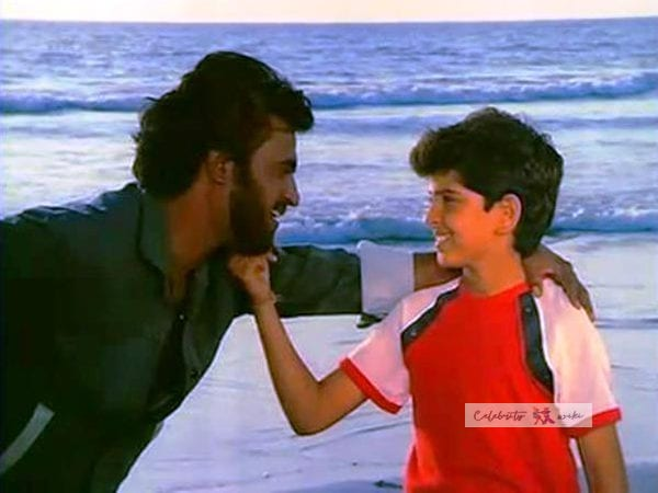 Rajinikanth and Hrithik Roshan photo in his childhood