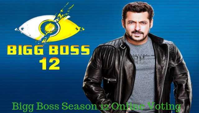 Bigg Boss Season 12 online voting