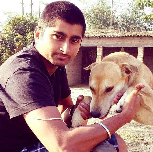 Deepak Thakur loves dogs