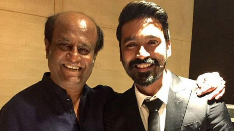 Dhanush with Super Star Rajnikanth