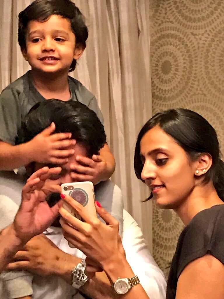 Jr NTR Son Abhay Ram and Wife