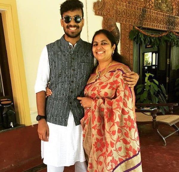 Vaishnav Tej With His Mother