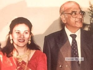 Deepika Chikhalia with-her father