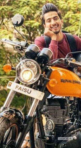 faisal shaikh with his bike Royal Enfield