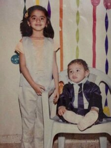 helly shah childhood image