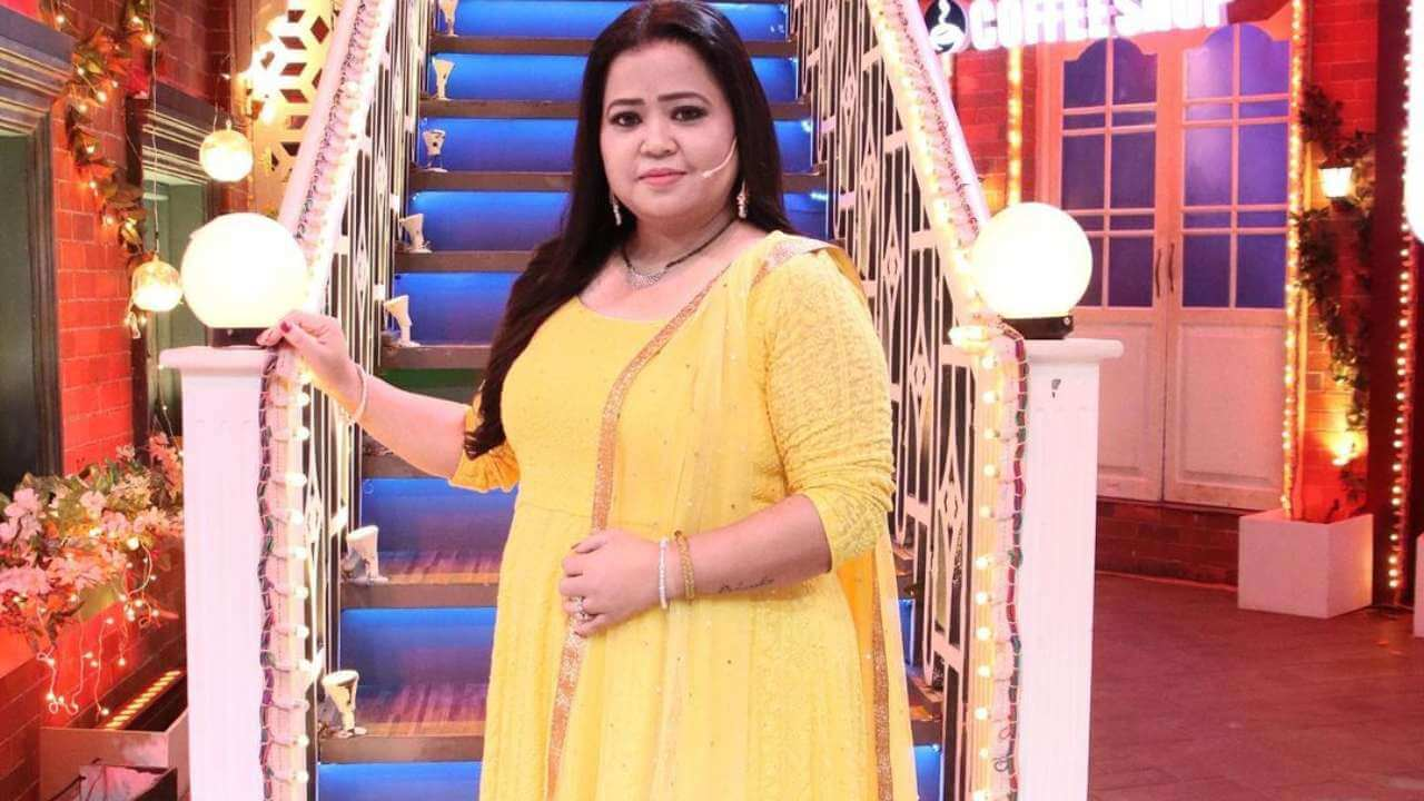 Bharti Singh image in yellow suit