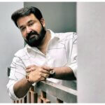 Mohanlal new photo in white shirt