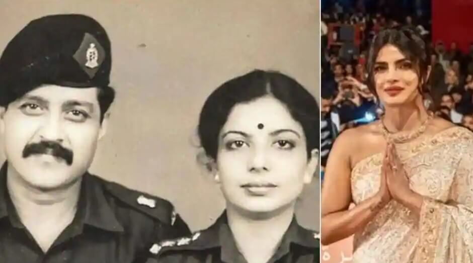 Priyanka Chopra Ki Matha aur Pitha ki Photo