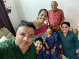 Anasuya Bharadwaj with family