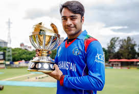 Rashid Khan with trophy