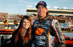 Travis Pastrana with his wife