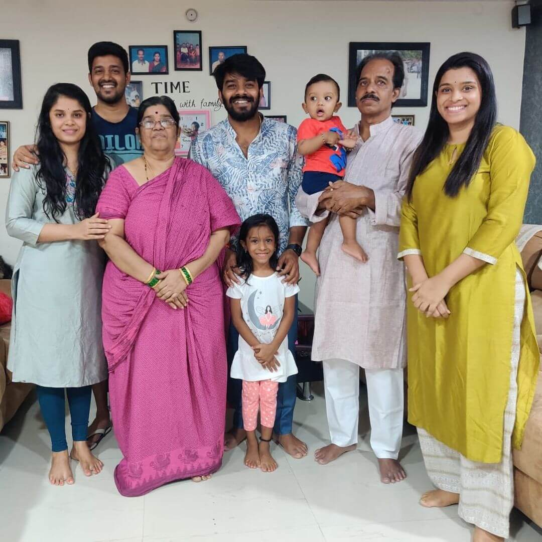 Sudigali Sudheer Family Photo With Sister