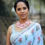 Anchor Anasuya Latest Photos in saree