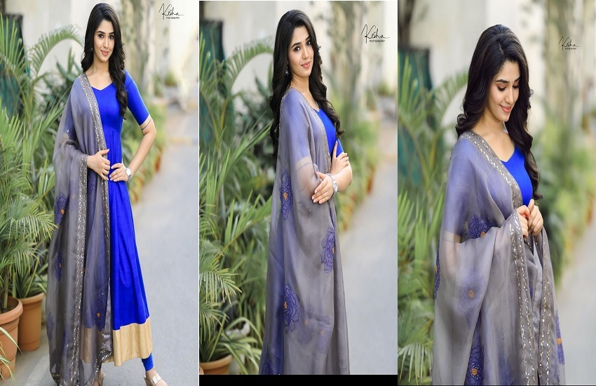 Krithi Shetty Blue Color Chudidhar In AMazon For Sale