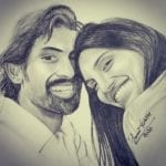 rana and miheeka bajaj selfie painting