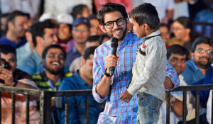 Aditya Thackeray Is with Children