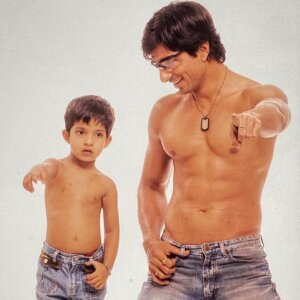 Ishant Sood childhood Photo With his Father