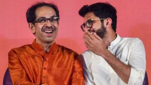 Aditya Thackeray Is with Children.