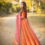 Dananeerr pawri girl in orange long dress