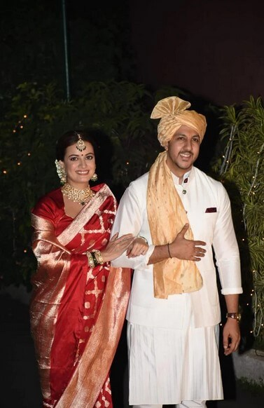 Dia Mirza and Vaibhav marriage pics exclusive