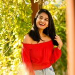 ananya Nagalla in Tight Jeans and red top