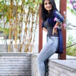 ananya Nagalla in blue jeans and tight tshirt structure
