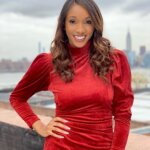 Maria Taylor in Red Skirt