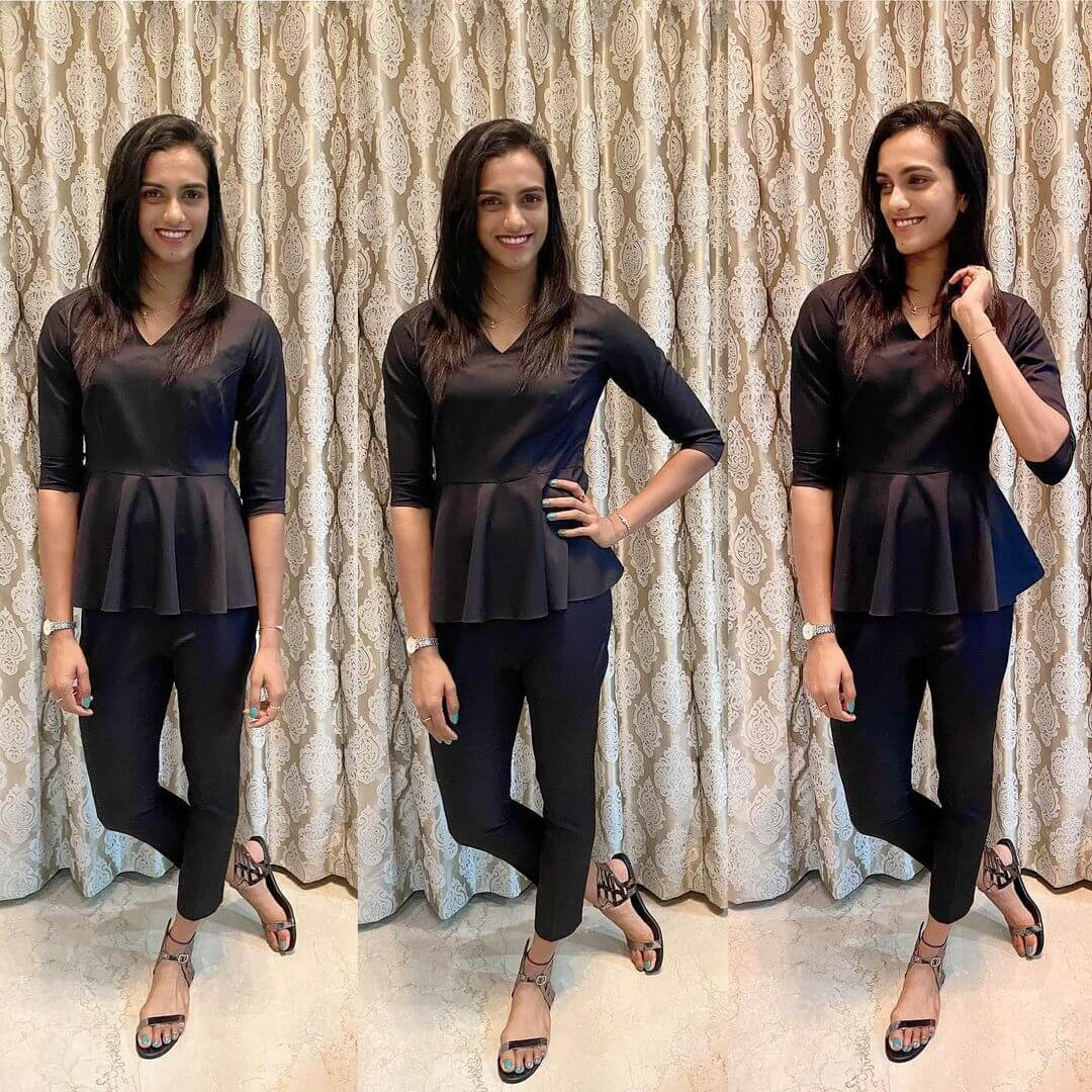 PV Sindhu In Black jeans and top