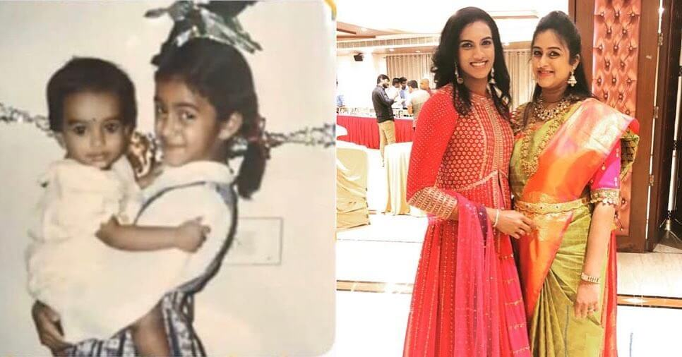 PV Sindhu childhood photo with her sister