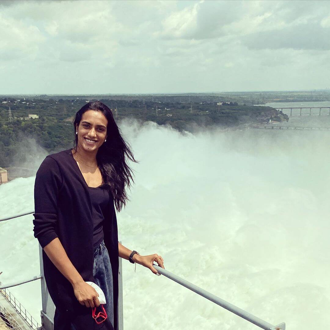 PV Sindhu in jeans and tshirt